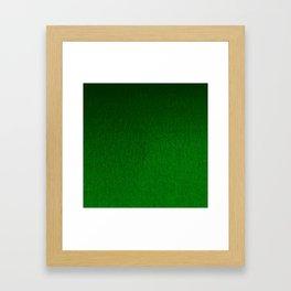 Emerald Green Ombre Design Framed Art Print