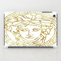 versace iPad Cases featuring Versace White by InteriorEpiphanies