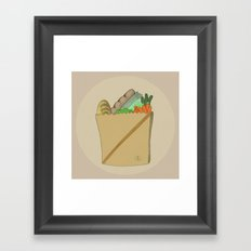 GROCERY BAG Framed Art Print