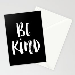Be Kind black and white watercolor modern typography minimalism home room wall decor Stationery Cards
