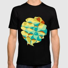 Imperfect Tiles MEDIUM Black Mens Fitted Tee