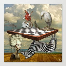 Zebra Upside Down Canvas Print