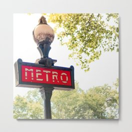Parisian Metro Sign Metal Print