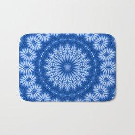 The Perfect Fluff Kaleidoscope Neon Blue Bath Mat
