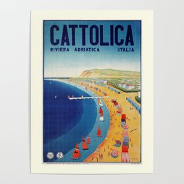 Cattolica 1920s Italy travel Poster