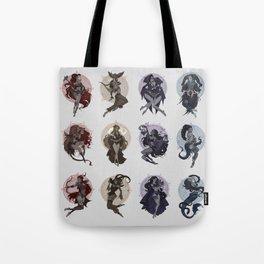 Witchy Zodiac Tote Bag