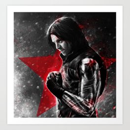 CA:Civil War - Bucky Barnes Art Print