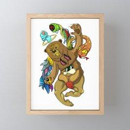 Censored honey eye Framed Mini Art Print