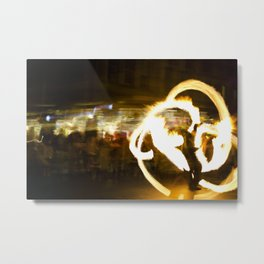 Fire Dancer Metal Print