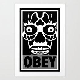 John Carpenter's They Live X OBEY  Art Print