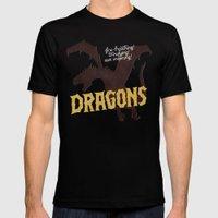 Dragons Black Mens Fitted Tee MEDIUM