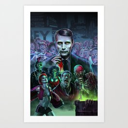 Hannibal Holocaust - They Live Return of the Living Dead Mads Mikkelsen Art Print