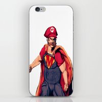 super mario iPhone & iPod Skins featuring Super Mario by Mastodon
