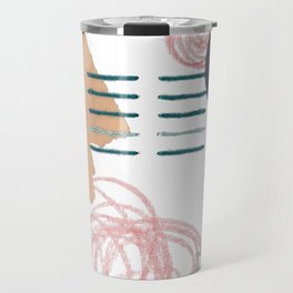 Stitched Abstraction #5 Travel Mug