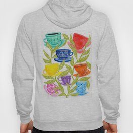 Tea Cups, Patterns, and Leaves Hoody