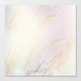 Abstract summer blush pink yellow whey pattern Canvas Print