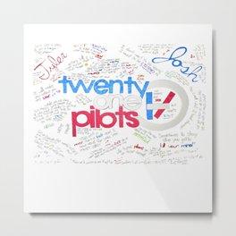 TwentyOnePilots Logo Metal Print