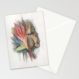 woman of paradise Stationery Cards