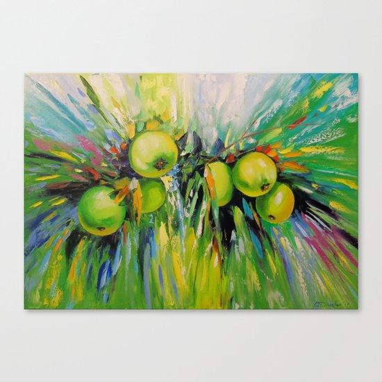 Juicy apples Canvas Print