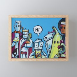 "Everyone Says ""Hi"" Framed Mini Art Print"