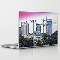 nashville Laptop & iPad Skins featuring Nashville Grit by Andooga Design