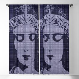 Belle of the Art Nouveau era,Beautiful,elegant,mystique,chic,purple, Blackout Curtain