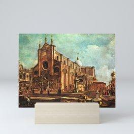 Francesco Guardi - Campo of Santi Giovanni et Paolo, with the Scuola di San Marco in Venice Mini Art Print