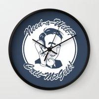better call saul Wall Clocks featuring [ Better Call Saul ] James McGill Goodman Bob Odenkirk by Vyles