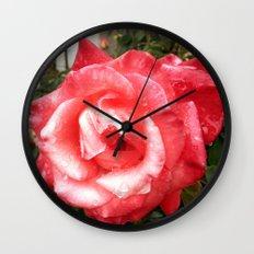 Rainy Day Rose Wall Clock