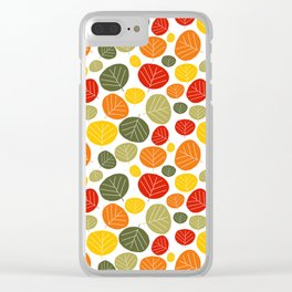 Autumn happiness Clear iPhone Case