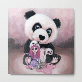Candie and Panda Metal Print