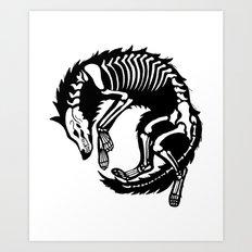 Wolf Bones Art Print