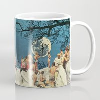the moon Mugs featuring Moon by Ben Giles