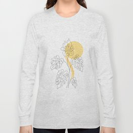 Monstera line Art Long Sleeve T-shirt