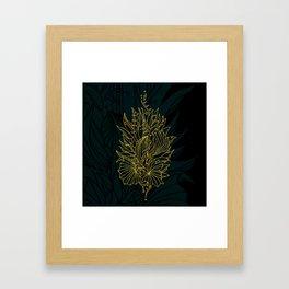 Nested in Gold Framed Art Print