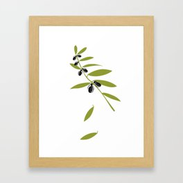 Grenade Olive Leaf - war pigs Framed Art Print