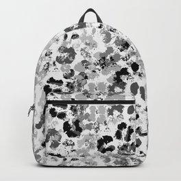 Gray Splashed Flowers Backpack