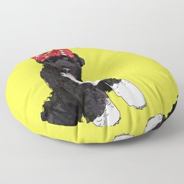 Portugese Water Dog. Political Pup -Every Vote Counts  Floor Pillow
