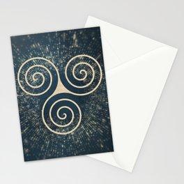Triskelion Golden Three Spiral Celtic Symbol Stationery Cards