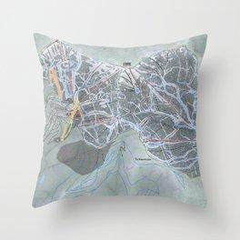 Schweitzer Mountain  Resort Trail Map Throw Pillow
