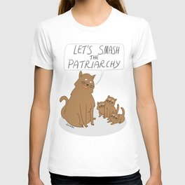 Let's Smash The Patriarchy Kittens T-shirt