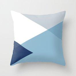 Geometrics - blues & concrete Throw Pillow