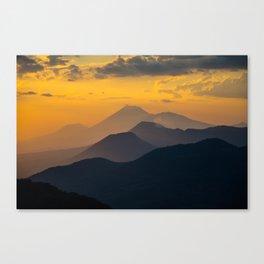 Sunset El Hoyo, Nicaragua Canvas Print