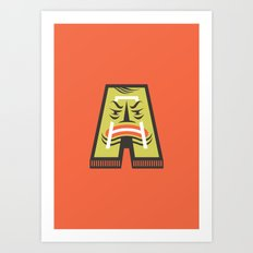 A for Angry Art Print