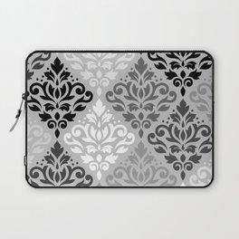 Scroll Damask Ptn Art BW & Grays Laptop Sleeve