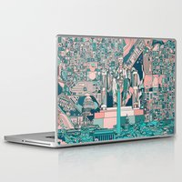 washington dc Laptop & iPad Skins featuring washington dc city skyline by Bekim ART