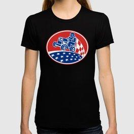 Ride On Lawn Mower Racing Retro T-shirt