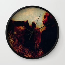 Sunrise and fox Wall Clock