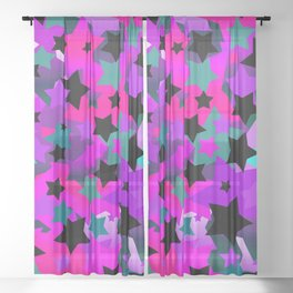 Punk Rock Star Crazy Sheer Curtain