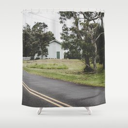House on the Green - Hilo, Hawaii Shower Curtain